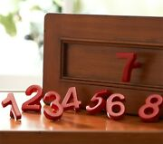Pottery Barn Kids Number Knobs Red Set Of 9 Drawer Pulls