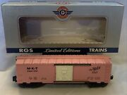 """Lionel Rgs Custom Made Pink Mkt """"the Katy"""" Boxcar 6464-350 O Gauge Used"""