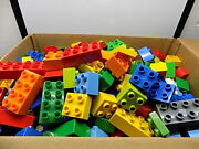 Lego Duplo Bricks And Blocks Only Lot Of 100 Pieces Various Colors And Sizes