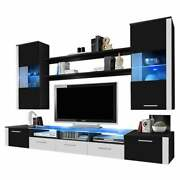 Fresh Wall Unit Modern Entertainment Center With Led Lights