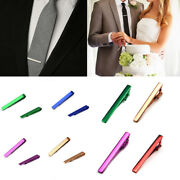 Men Stainless Steel Tie Clip Bar Brooch Clasp Chic Solid Colour Neck Tie Pin Hot