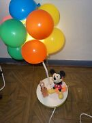 Walt Disney Mickey Mouse Pluto Balloon Nightlight And Lamp Vtg Tested And Working