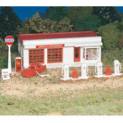 New Bachmann Plasticville Kit Gas Station Train Building Ho Scale Free Us Ship
