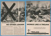 1965 Yale Towne Trojan Front End Loader Tractor Landfill Special Photo Ad
