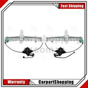 2 Aci Power Window Motor And Regulator Assembly Rear For Lincoln Town Car