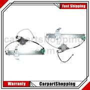 2 Vdo Power Window Motor And Regulator Assembly Front For Lincoln Town Car