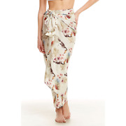Nwt Chaser Pareo Swimsuit Coverup Wrap Hawaiian Toucan Leaf Print Sarong Os