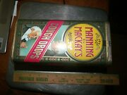 """Vintage Manning And Mackay's Cough Drop Hinged Lid Metal Tin, England, Case 8"""""""