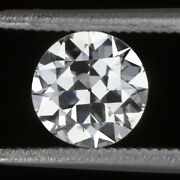 0.67ct Gia Certified E Si1 Old Cut Diamond 5.8mm Vintage Antique Loose 2/3 Carat