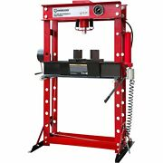 Strongway 45-ton Pneumatic Shop Press With Gauge And Winch