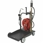 Ironton Air-operated 51 Oil Pump Kit - With Cart And Hose Reel, 3.7 Gpm