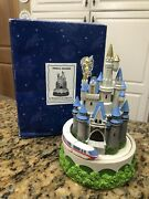 Disney Cinderella's Castle Music Box Pencil Holder With Moving Monorail