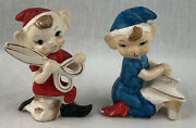 Vintage Sewing Pixie Elf Salt And Pepper Shakers Made In Japan Scissors Iron