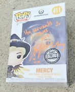 Overwatch Lucie Pohl Signed Witch Mercy Funko Pop Figure