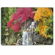 Designart - Japanese Maple Trees Floral Photography Canvas Small