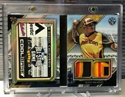 2017 Triple Threads All Star Game Laundry Tag Booklet Manny Machado Padres 1/1