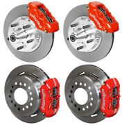 Wilwood Disc Brake Kit,65-72 Dodge A-body,plymouth,11,w/pb Cable,red