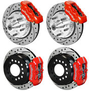 Wilwood Disc Brake Kit,65-72 Dodge A-body,plymouth,11 Drilled,w/pb Cable,red