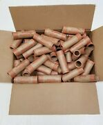 1000 Rolls Preformed Coin Wrappers Paper Tubes For Quarters Crimped End 10