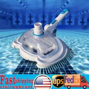 Swimming Pool Vacuum Brush Head Suction Cleaner Cleaning Tool W/ Filter Screen