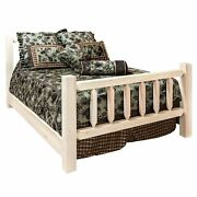 Frontier Collection Spindle Style Bed Clear Lacquer Finish