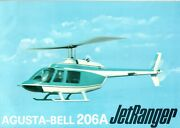 Agusta Bell 206a Jet Ranger Helicopter Promotional Sales Brochure