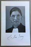 Ruth Bader Ginsburg Autograph Hand Signed 6 X 9 Photo Supreme Court Justice Coa