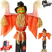 Animatronic Scarecrow Halloween Prop Life Size Scary Motion Activated W/led,5 Ft