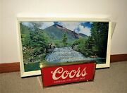 1950and039s Coors Beer Motion Moving Water Fall Lighted Sign Like Hammand039s
