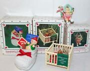 3 Vintage Hallmark Ornaments Babyand039s Childand039s And Grandchildand039s First Christmas And03987