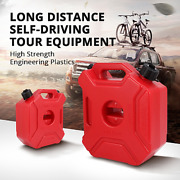 3l 5l Portable Fuel Tank Red Gas Cans Spare Petrol Plastic Tanks Oil Container