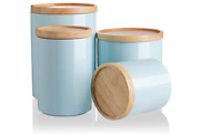 Sweejar Kitchen Canisters Ceramic Food Storage Jar Set, Stackable Containers Wit