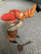 Rare Antique Wind-up Dancing German Gnome Elf Lifting Baby Elf Works W/key
