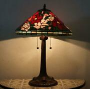 Used 60cm Oversized Stained Glass Lighting Two Lights Table Lamp M-1165