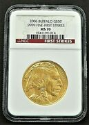 2006 50 Gold American Buffalo First Strikes Ngc Ms70