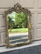 From Mike Tysonand039s Former Maryland Estate - Rist Corp Gold Leaf Friedman Mirror