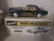 Jim Beam Handcrafted Genuine Porcelain Usa Black 1964 Ford Mustang Decanter Fw11