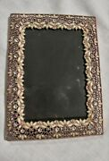 Sixtrees Gold Filigree Opalescent Pearls, Green Clear Stones 4 X 6 Photo Frame