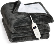 Electric Heated Blanket Queen Size Machine Washable 50x60 Soft And Comfortable