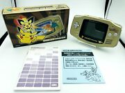 Pokémon Center New York Limited Edition Gold Game Boy Advance Complete Authentic