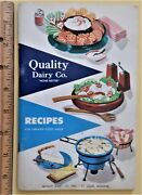 St Louis Mo Quality Dairy Co Cookbook Recipes 1957 Product Photos Advertising