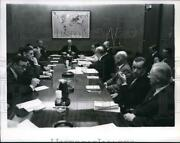 1963 Press Photo Secretary Of State Dean Rusk Looks Down Conference Table