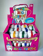 Rare Vintage 1971 Topps Big Tooth Display Box W/ 22 Candy Container Hot Pink