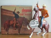 Vintage 1950and039s Hartland Cheyenne Bodie Clint Walker W/original Box And Hang Tag