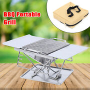 Barbecue Stove Cooking Tools Outdoors Charcoal Grills Stainless Steel Folding Us