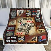 Quilt Blanket - Motocross Those Who Dare To Fall Best Quilt Blanket Best Gift