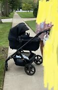 Silver Cross Eclipse Wave Stroller With Silver Cross Eclipse Diaper Bag.