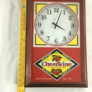 Vintage Since 1917 Cheerwine Red Classic Quartz Wall Clock Non-working