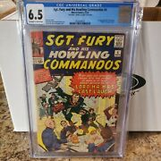 Sgt. Fury 4 Cgc 6.5 1964, Jack Kirby Signature, Pg 1, Nice Looking Book Signed