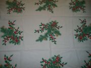 Vintage Wilendur Holly, Pinecone And Pine Tablecloth